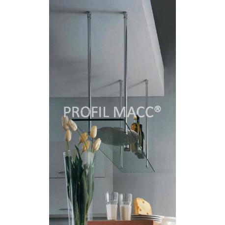 Mensole Sospese In Vetro.Sistema Ceiling Per Mensole Sospese Profil Macc Vetro